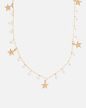 Load image into Gallery viewer, MATILDA 14K GOLD FILLED PEARL AND STARS NECKLACE