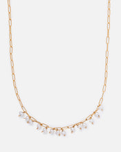 Load image into Gallery viewer, ELLA 14K GOLD FILLED PEARL AND PAPERCLIP CHAIN NECKLACE