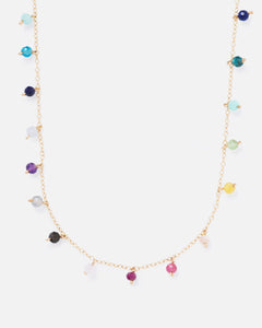 RAINBOW SPUTNIK 14K GOLD FILLED SPRINKLED NECKLACE