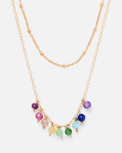 RAINBOW ELOISE 14K GOLD FILLED DOTTED CHAIN NECKLACE