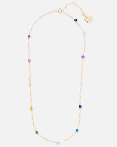 RAINBOW BEADED 14K GOLD FILLED FANCY CHAIN