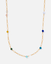 Load image into Gallery viewer, RAINBOW BEADED 14K GOLD FILLED FANCY CHAIN