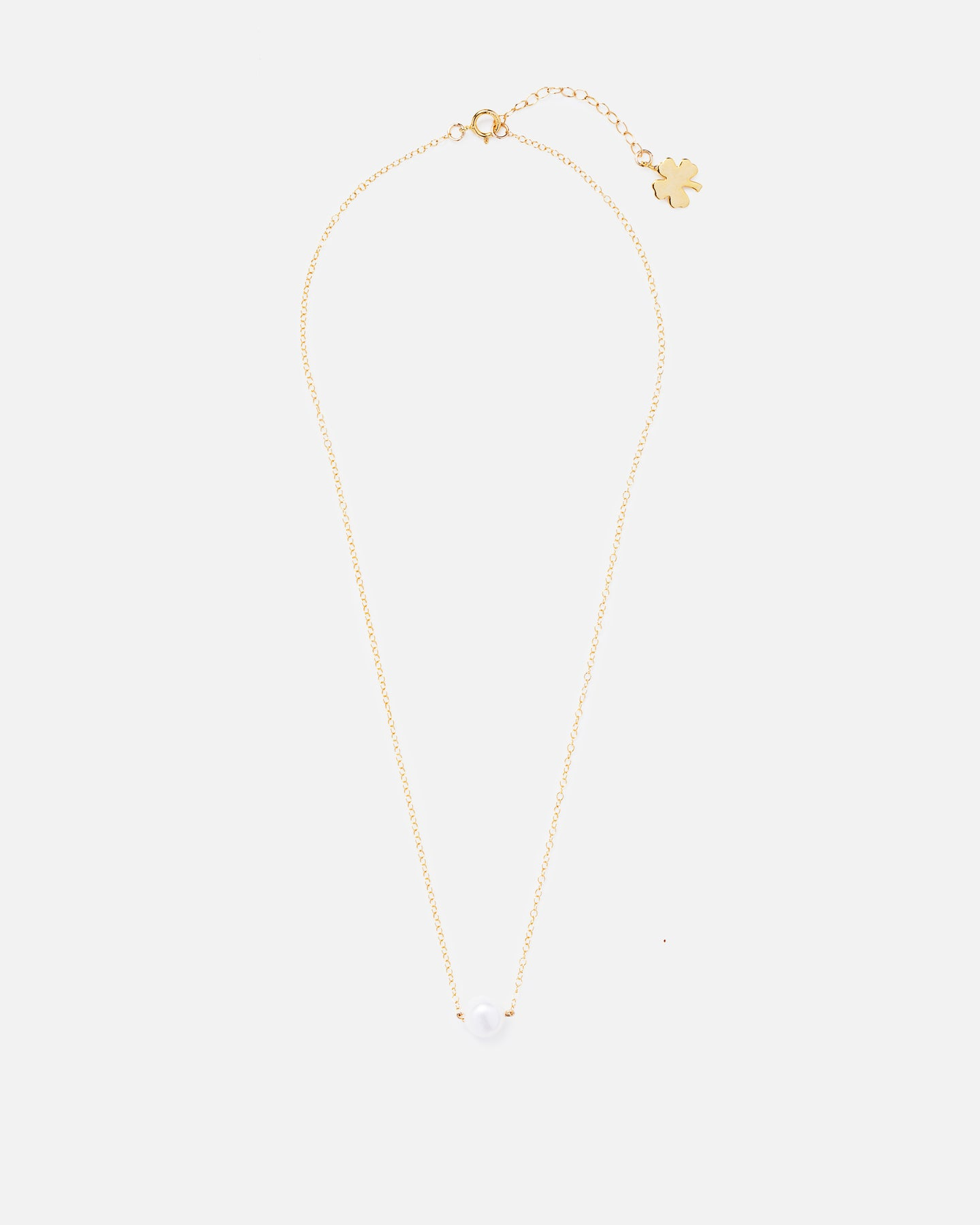 DOT 14K GOLD FILLED PEARL NECKLACE