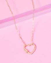 Load image into Gallery viewer, LOCKED HEART 14K GOLD FILLED NECKLACE