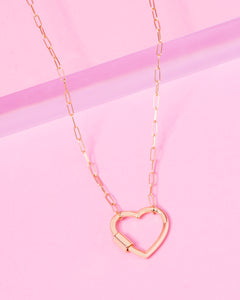 LOCKED HEART 14K GOLD FILLED NECKLACE