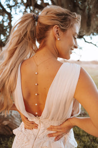 Pearl Back Necklace