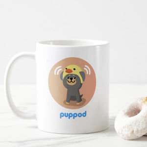 Squeaker Badge Coffee Mug Achievement Merch PupPod