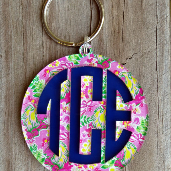 Layered Monogram Keychain-Mary Beth Goodwin Patterns