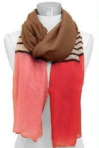 Color Block and Stripe Scarf