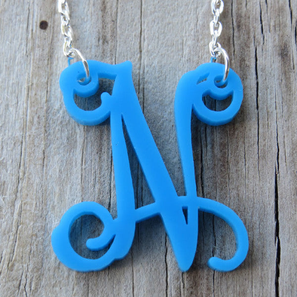 Floating Single Letter Monogram Necklace