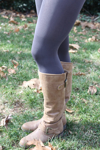 Fleece Lined Leggings in Charcoal