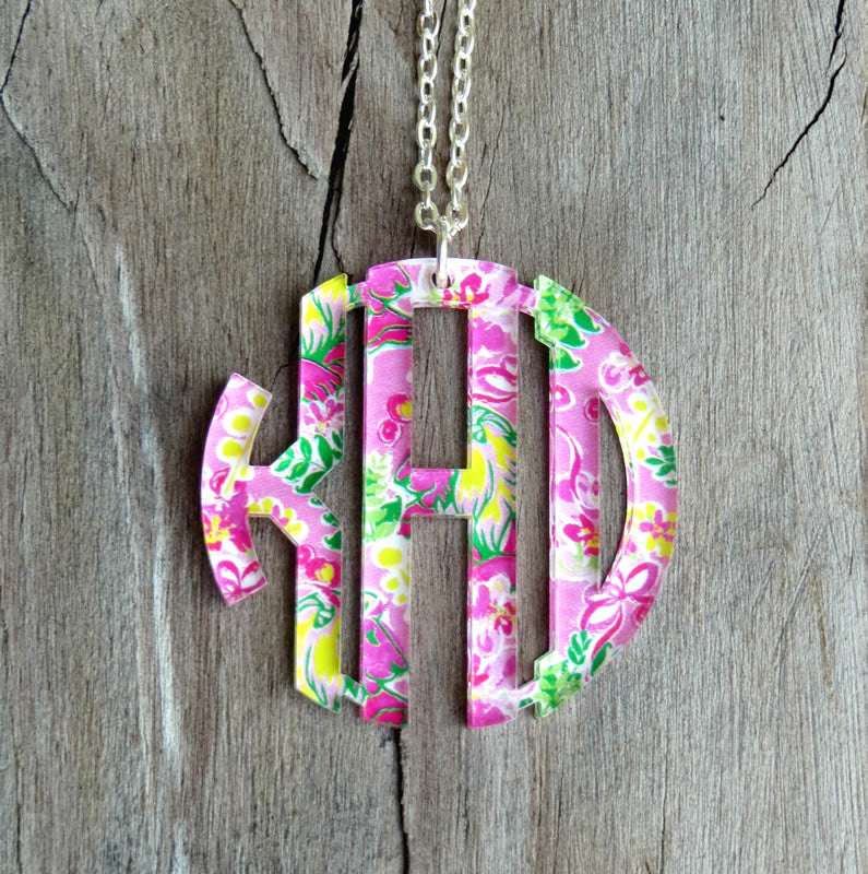 Pendant Monogram Necklace-Mary Beth Goodwin Patterns