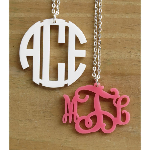 Pendant Monogram Necklace