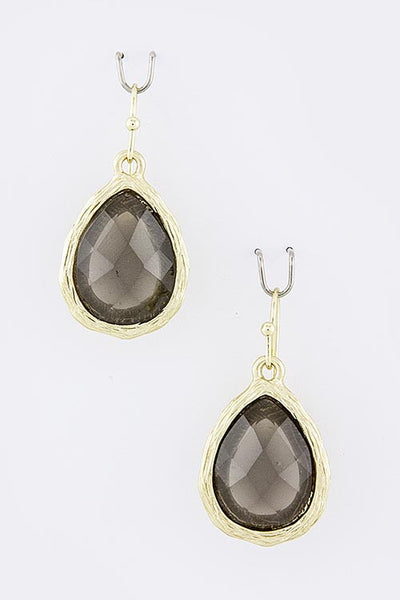 Black Acrylic Teardrop Earrings