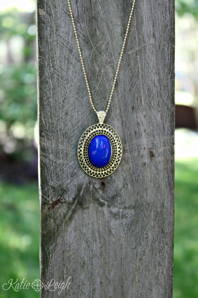 Jeweled Pendant Necklace - 6 colors!