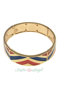 Chevron Multi Colored Stripe Bracelet