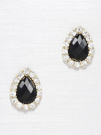 Jeweled Teardrop Stud