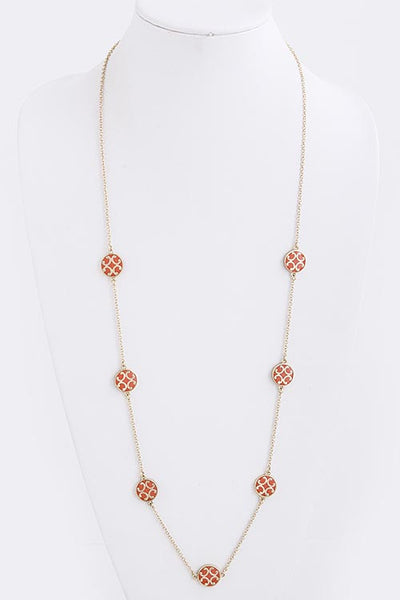 Filigree Charm Linked Necklace