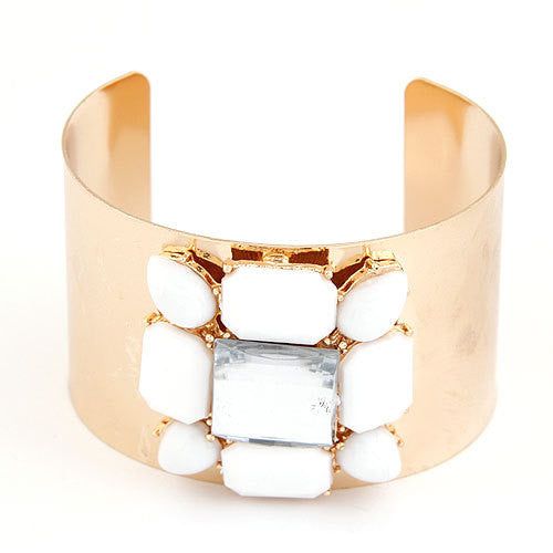 Gold Shourouk Cuff Bracelet
