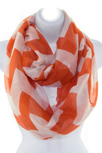 Chevron Infinity Scarf in Orange