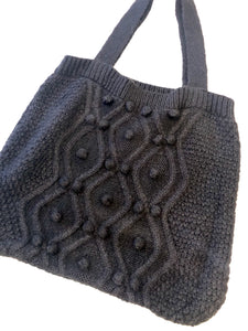 Shopping bag zwart wol