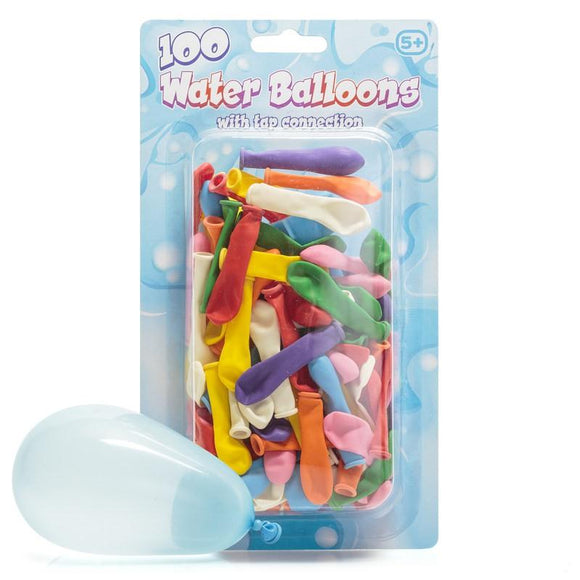 100 Water Balloons with Tap connector