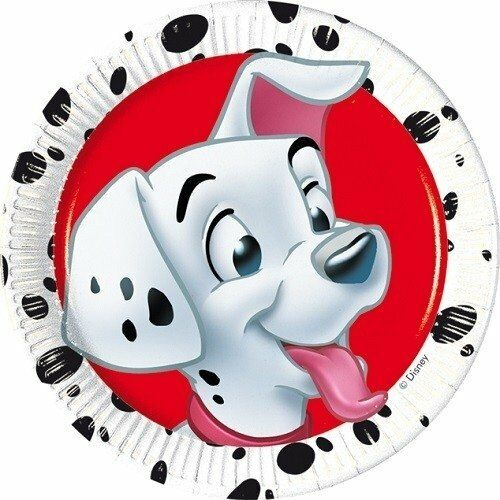 Pack of 16 101 Dalmatians 20 cm Paper Plates - Disney Animals Party Tableware