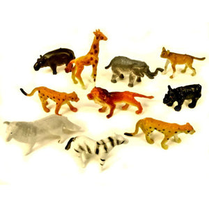 Mini Plastic Jungle Animal Pocket Money Toy Party Bag Filler Favor