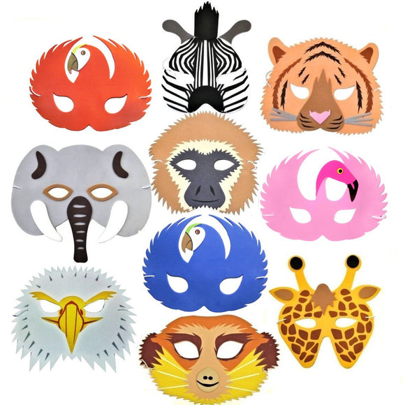 Children's Wild and Jungle Animal Face Party Masks