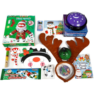 Christmas activity set - toys, games, star projector, sock toy kit