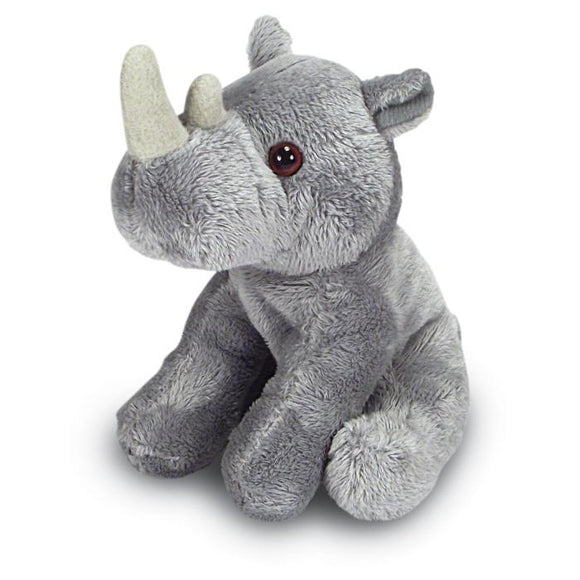 14cm Grey Rhino Cuddly Plush Soft Toy