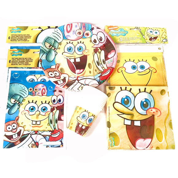 Spongebob Party pack tableware party bags and banner