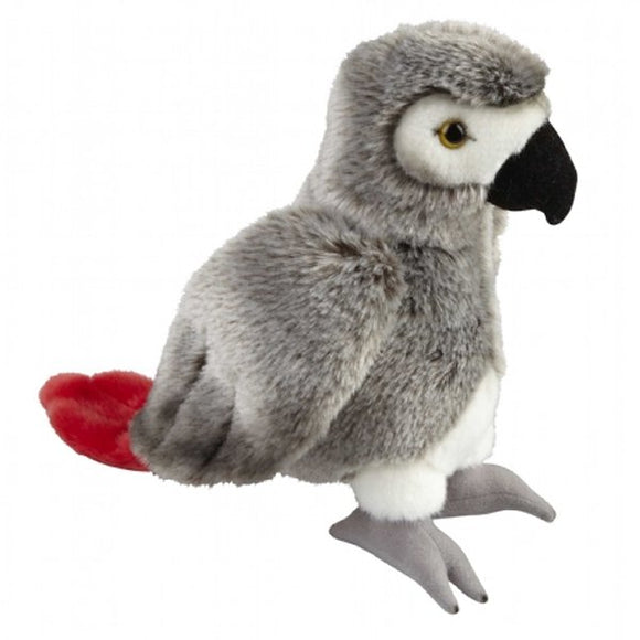 This incredibly soft African Grey Parrot cuddly plush toy measures 28 cm and is suitable for all ages.  CE tested and certified and made from high quality materials delivering you a superb product that will be cherished for years