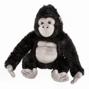 This Gorilla cuddly soft toy measures 30 cm and is suitable for all ages.  CE tested and certified and made from high quality materials delivering you a superb product that will be cherished for years.
