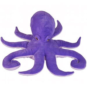 This fantastically purple Octopus cuddly soft toy measures 32 cm is plump and super huggable. Suitable for all ages.  CE tested and certified and made from high quality materials delivering you a superb product that will be cherished for years.