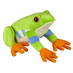 This bright coloured incredibly soft and huggable Tree Frog cuddly soft toy measures 30 cm and is suitable for all ages.  CE tested and certified and made from high quality materials delivering you a superb product that will be cherished for years.