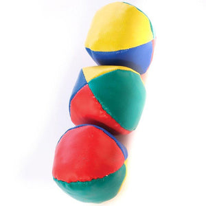 Set of 3 traditional juggling balls learn to juggle
