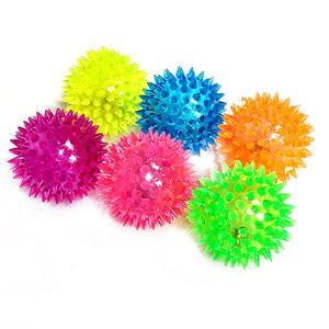 Flashing Spiky Bouncy Ball Sensory Toy Party Bag Filler Favor