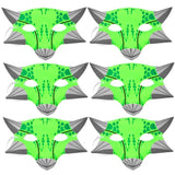 100 green dinosaur children's masks party bag filler favors