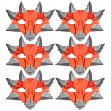 100 orange dinosaur children's masks for schools parties world book day