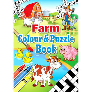 Farm Themed Children's Colouring and Puzzle Book for Party Bags
