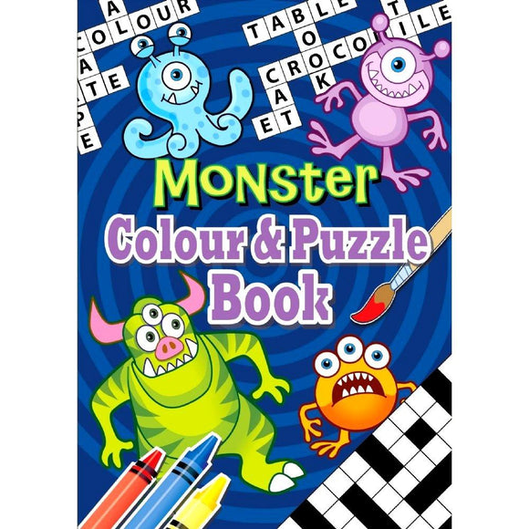 A6 Monster Colour and Puzzle Activity Book