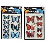 3D Butterfly Sticker Designs Art Craft Pocket Money Toy Decoration
