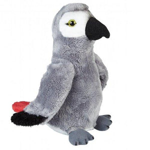 19cm Grey Parrot Cuddly Soft Plush Toy