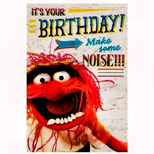 Animal Muppet's Birthday card