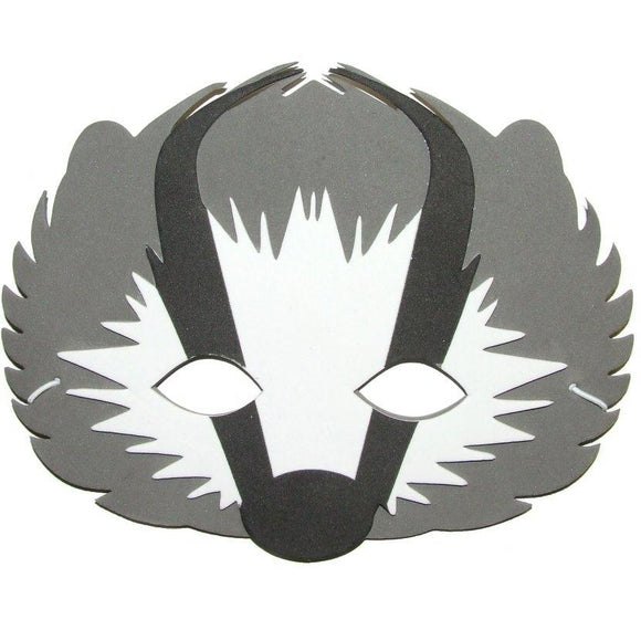 Children's Badger Face Mask for Fancy Dress