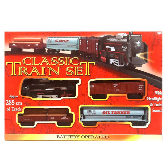 Battery operated train set with 285 meters of track, my first train set toy