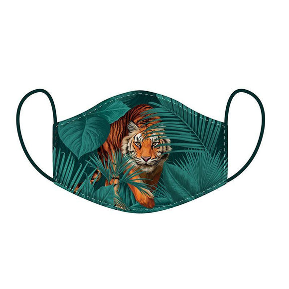 This Age 12+ to Adult Size 2 layer face mask covering is in a fun big cat spots and stripes design.  Large Size (Rough Size Age 12+) 23 cm x 13 cm