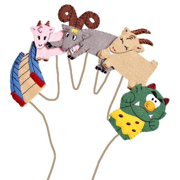 The Three Billy Goats Gruff Story Time Finger Puppet Set