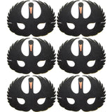 6 Black Swan Foam Children's masks ideal for school, parties, groups and theaters
